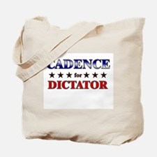 CADENCE for dictator Tote Bag
