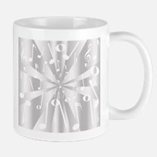 Silver Musical Notes Background Mugs