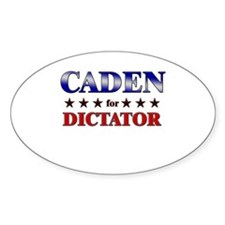 CADEN for dictator Oval Decal