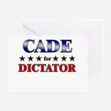 CADE for dictator Greeting Card