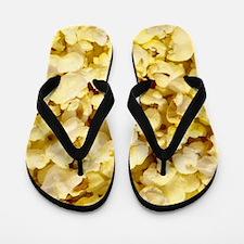 Popped Popcorn for Movie Lovers Flip Flops