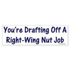 Right-Wing Nut Job Bumper Car Sticker