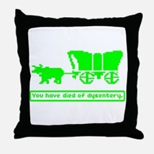 You have died Throw Pillow