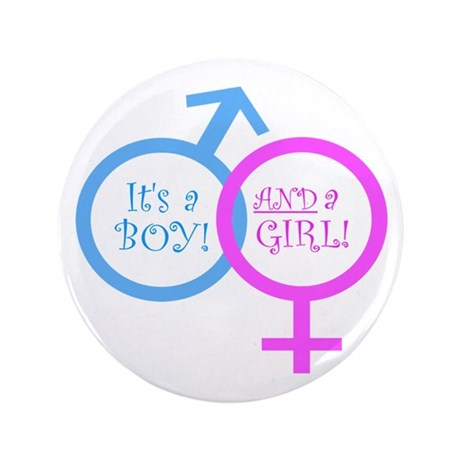 """It's a boy AND a girl 3.5"""" Button (100 pack)"""