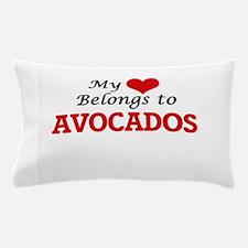 My Heart Belongs to Avocados Pillow Case