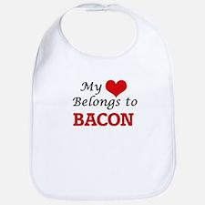 My Heart Belongs to Bacon Bib