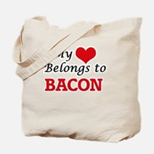 My Heart Belongs to Bacon Tote Bag
