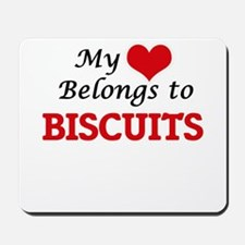 My Heart Belongs to Biscuits Mousepad