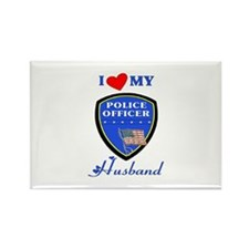 Love My Police Husband Rectangle Magnet