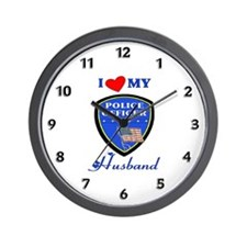 Love My Police Husband Wall Clock