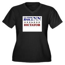 BRYNN for dictator Women's Plus Size V-Neck Dark T