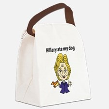 Cute The dog ate my lesson plans Canvas Lunch Bag