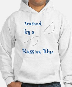 Trained by a Russian Blue Hoodie