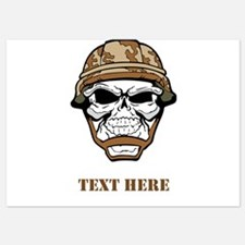 Custom Military Shirt Skull with Helmet Invitation