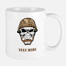 Custom Military Shirt Skull with Helmet Mugs