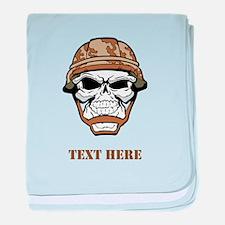 Custom Military Shirt Skull with Helmet baby blank
