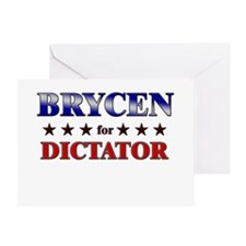BRYCEN for dictator Greeting Card