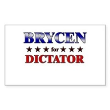 BRYCEN for dictator Rectangle Decal