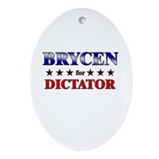 BRYCEN for dictator Oval Ornament