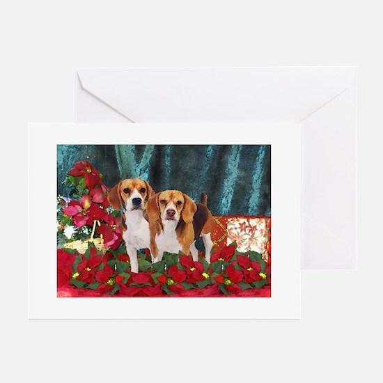 christmas watercolor beagle christmas greeting cards cafepress