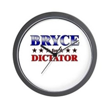 BRYCE for dictator Wall Clock