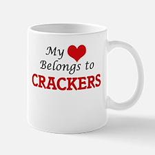 My Heart Belongs to Crackers Mugs