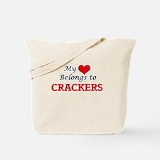 My Heart Belongs to Crackers Tote Bag