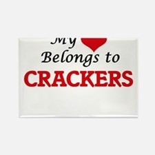 My Heart Belongs to Crackers Magnets
