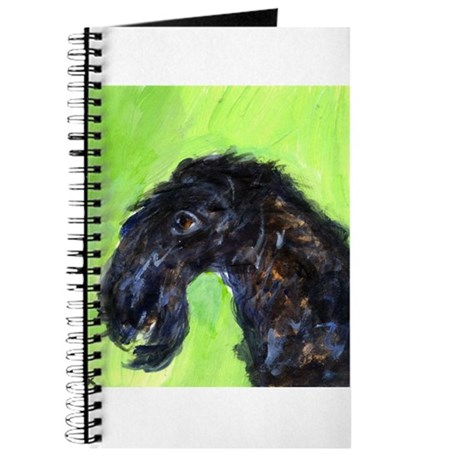 KERRY BLUE TERRIER portrait Journal