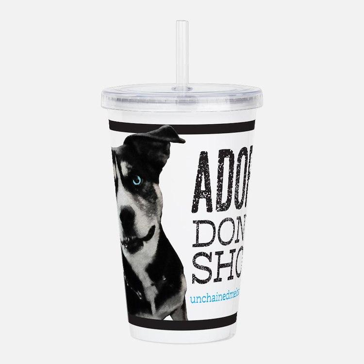 Adopt Don't Shop Acrylic Double-wall Tumbler