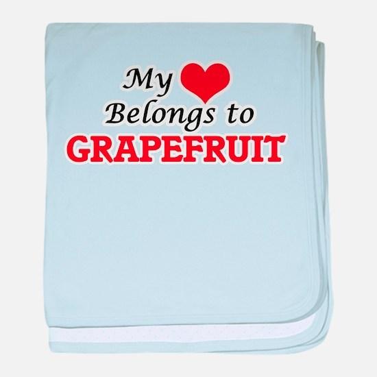My Heart Belongs to Grapefruit baby blanket