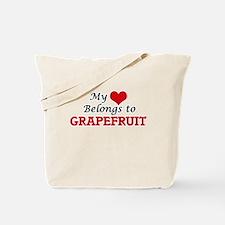 My Heart Belongs to Grapefruit Tote Bag