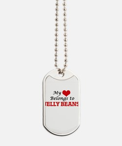 My Heart Belongs to Jelly Beans Dog Tags