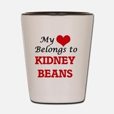 My Heart Belongs to Kidney Beans Shot Glass