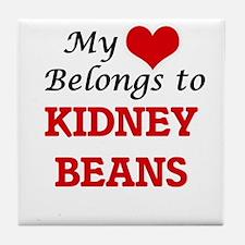 My Heart Belongs to Kidney Beans Tile Coaster