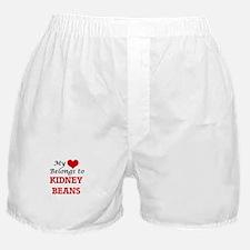 My Heart Belongs to Kidney Beans Boxer Shorts