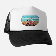 Fox Terrier Seashore Trucker Hat