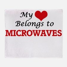 My Heart Belongs to Microwaves Throw Blanket