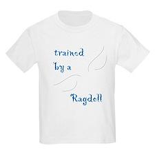 Trained by a Ragdoll Cat Kids T-Shirt