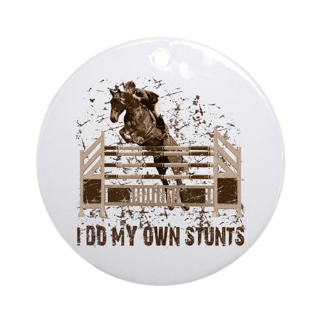 Hunter, Jumper Horse Stunts Ornament (Round)