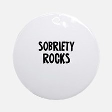Sobriety Rocks Ornament (Round)