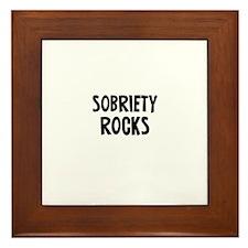 Sobriety Rocks Framed Tile