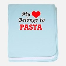 My Heart Belongs to Pasta baby blanket