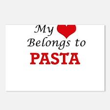My Heart Belongs to Pasta Postcards (Package of 8)