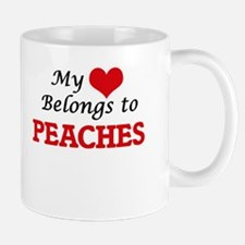 My Heart Belongs to Peaches Mugs