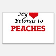 My Heart Belongs to Peaches Decal