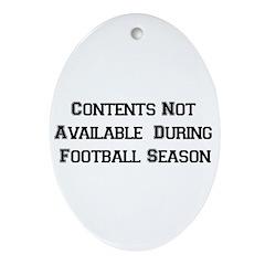 Football Season Oval Ornament