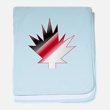 Maple Leaf baby blanket