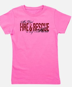 Funny Rescue dad Girl's Tee
