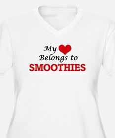 My Heart Belongs to Smoothies Plus Size T-Shirt